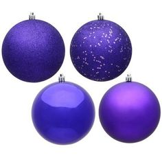 Purple Balls For Decoration Found It At Wayfair  2 Piece Magnificent Glass Ball Ornament Set