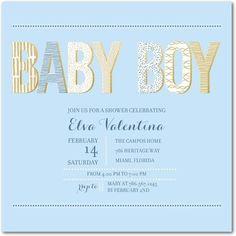 Delicate Glamour: Stream - Baby Shower Invitations in Stream | Allie Munroe