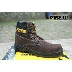 Sepatu Caterpillar Safety Boots Best Seller Coklat Tua Sepatu
