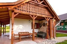 Patóhegyi Borházfalu » Galéria Country Style Homes, Traditional House, Sunroom, Porch, Pergola, Woodworking, Outdoors, Construction, Houses