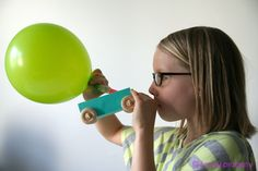 make your own balloon car… and watch it go!