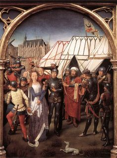 1489 - El Relicario de Santa Ursula - 6-Prisionera por los Hunos - madera dorada policromada - Memlingmuseum - Hospital de San Juan de Brujas
