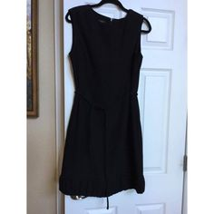 Talbots Little Black Dress with Waist Tie Adorable, classy and simple. Has a waist tie and some rouching on the hem. Talbots Dresses