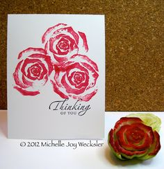 Bok Choy Stamped Roses & Video