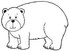 Free Bear Coloring Pages from Bear Coloring Pages. On this page, you will find bear coloring pictures. There is a huge hilarious of bear coloring picture to print and color. Bears can be recognized by . Family Coloring Pages, Cool Coloring Pages, Animal Coloring Pages, Coloring Pages To Print, Coloring Books, Free Coloring, Polar Bear Coloring Page, Bears Preschool, Bear Template