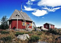 Northern Ostrobothnia province of Finland - Pohjois-Pohjanmaa Grave Monuments, House Landscape, Place Of Worship, Old Buildings, Arcade, Countryside, Parks, House Styles, Graveyards