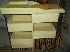 Vintage Wicker Baby Changing Table 1980 Hedstrom
