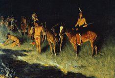 Frederic Remington (1861 - 1909) pintor, ilustrador, escultor y escritor estadounidense que se especializó en estampas del Oeste.