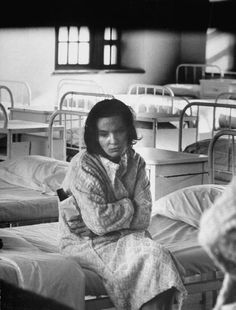 Manhattan State Hospital Location: New York, NY, US Date taken: 1964 sad thing is she probably had a family and is locked away for depression.