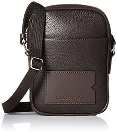 Lacoste Men's Classic Premium Vertical Camera Bag, Chocolate Brown, One Size - Brought to you by Avarsha.com