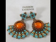 Preview of Amber Rays Earrings Beading & Jewelry Making Tutorial Series - YouTube