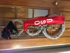 Snowman Wreath #2 Go Buckeyes :)