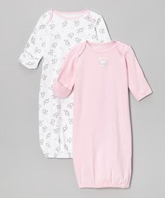 Look what I found on #zulily! Baby Pink & White Kitty Gown Set - Infant by Sprockets #zulilyfinds