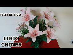 Mega Flores - Flores em EVA - LÍRIO (passo a passo) - YouTube