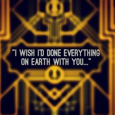 """""""I wish I'd done everything on Earth with you..."""""""