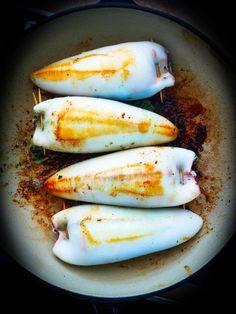 Calamars farcis à la Sétoise - Quatre Saisons Au Jardin