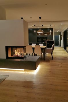 Small House Interior Design, Home Room Design, Dream Home Design, House Design, Home Fireplace, Fireplace Design, Chandler House, Home Building Design, Luxury Dining Room