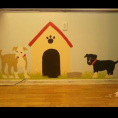 Dog room wall