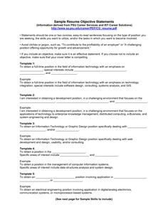 resume objective examples professional objective resumes - Resume Objective For It Professional