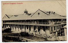 GRENADA - The Colonial Hospital. 1910 inter-island 1/2d rate postcard to Barbados.