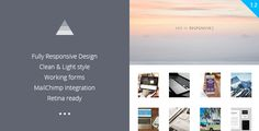 Aer - Clean HTML5 Template   http://themeforest.net/item/aer-clean-html5-template/8099843?ref=damiamio       Clean and simple HTML5 template that is well suited for portfolio and blog. Modern look. Clear lines. Geometry in design.  	     Features   Fully Responsive Design  5 Different types of single page  Custom background of single page  Stylish animation  Forms with popup messages  MailChimp integrations  Working forms  Retina ready  Valid HTML5 & CSS3  PSD included  Easy to Customize…
