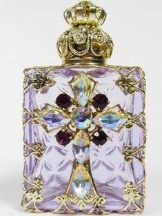 Czech Jeweled Perfume Bottle Holder | Buy #gemstones online at mystichue.com by HDSIM