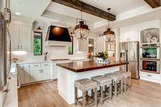 via Best Laminate, 20 Modern Farmhouse Kitchens via A Blissful Nest