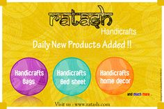 Ratash : New Launching.. everyday 200+ products are added Have a #look and #GrabAll The #Products.. new launches of #handicrafts. #Bags, #bedsheets, #homedecor, #sunglasses, and #manymore.. Guaranteed you all love to buy them.. visit us : www.ratash.com #newproduct #launched #shopping
