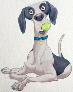 Since all I've been posting is dogs and kids lately, here's a favorite #tbt #dogart #childrensbooks #gouache