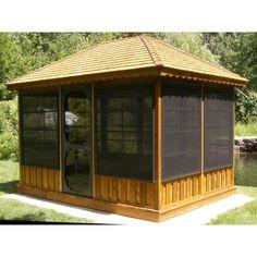 screened pavilion gazebo | Sale, Gazebo Kit, Gazebos For Sale, Garden Gazebo, Home Gazebo, Screen ...