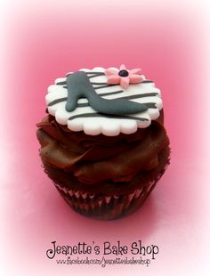 Zebra Print High Heel Cupcake