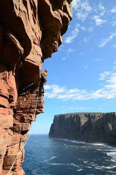 Climbing in Scotland. Why come into the gym? So that you can do this.