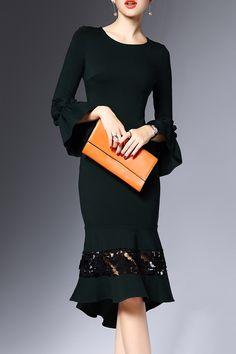 crochet flare dress