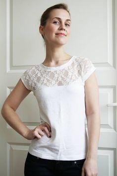 DIY Romantic Lace T-Shirt