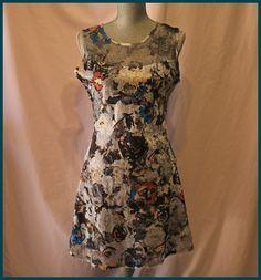 Komarov Dress Size XL Floral Sleeveless Cocktail Exquisite #Komarov #Sundress #Cocktail