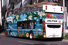 "The Jalpak Hawaii ""Rainbow Sky"" Tour Bus featuring surf art by @Heather Brown"