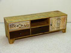 Tv bank holz vintage  Sideboard Kommode Buchstaben Schrank Vintage Shabby Akazie massiv ...