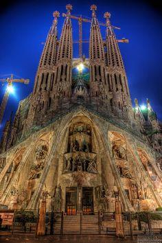 Sagrada Família (Basilica of the Holy Family) - Rear Facade. #barcelona #gaudi