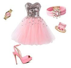 """Pinky Thursday"" by hungergames11 ❤ liked on Polyvore featuring ALDO, SHOUROUK and Michael Kors"