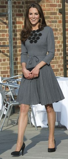 Love the Duchess's dress, this link has a video of her first public speech (she is so veddy British)