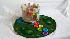 Wool Felt Fairytale Rainbow Castle Playscape by MyBigWorld2015