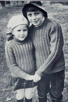 Vintage Knitting Pattern - Boy/Girl Sweater Polo/Round neck Jumper - Instant Download by TheBusyTipsyGipsy on Etsy