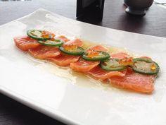 Jalapeño salmon tataki- flamed sashimi salmon served with jalapeno dressing and garnished with salmon roe and slivers of fresh jalapeno @kobejones_sydney  #Kobe #jones #kobejones #sydney #sydneyeats #sydneyfood #igerssydney #eeeeeats #foodie #foodart #foodporn #foodgasm #foodlover #foodstagram #foodshare #visitsydney #japanese #asian #salmon #jalapeno #tataki #foodblogger #instafoodie #instagood #instadaily #picoftheday #photooftheday #zomatoaus by food_1.0.1