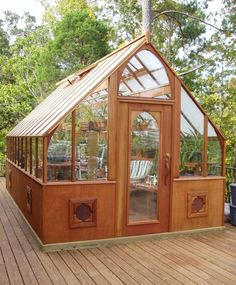 Redwood greenhouse for Orchids