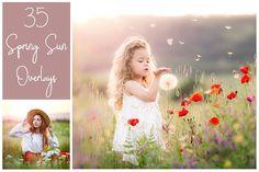 35 Dreamy Spring Sunlight Overlays by LovePhotoMoment on @creativemarket
