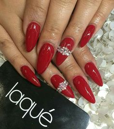 Red Stilleto Nails