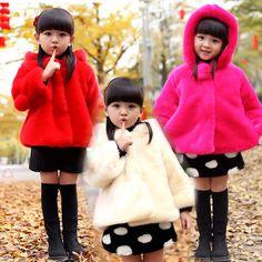 トップ品質! 2016女の子冬毛皮のコート子供秋と冬ベビー服子供レザー草厚い豪華なコート卸売(China (Mainland))