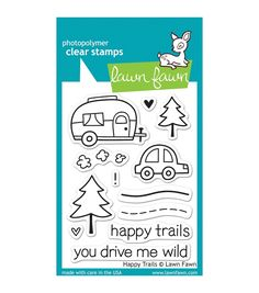 Lawn Fawn HAPPY TRAILS Clear Stamps LF601 $7.99