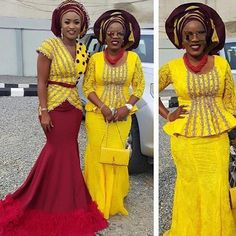If there's one thing we can't get enough of its Nigerian fashionistas nailing their own personal style in timeless Aso-Ebi styles. Each week we bring you our Aso-Ebi style pick… African Inspired Fashion, African Print Fashion, Africa Fashion, African Fashion Dresses, African Outfits, African Clothes, Ankara Fashion, African Prints, African Lace