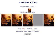 Test dine clairvoyante evner. I øvelserne kan du teste dig selv for tre ud af de fire klassiske ESP-evner. Der er syv simple øvelser. I en øvelse kan du prøve, om du ved tankens kraft kan få computeren til at vise et billede, hver gang den vender et kort.